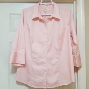 Pink sateen Shirt- 16W